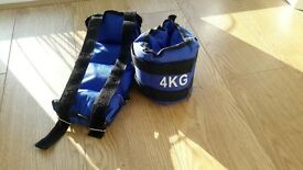 2 x 2kg fitness weights for ankles or wrists