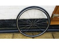 excellent road bike front wheel Axis Classic with tyre & tube