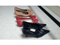 Quality leather shoes 3 pairs size 36