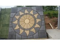 Paving/Slabs Aztec Patio Circle with square off kit 3mx3m, New