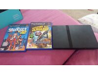 PS2 Slim with memory card, Destroy All Humans & NBA Street Vol.2