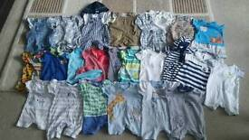 Baby boys summer clothes age 3-6 months