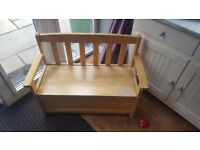 Kids wooden bench