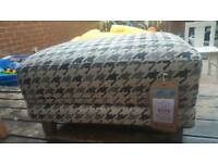 FABB SOFAS ALPHA DOGTOOTH PATTERN FOOTSTOOL