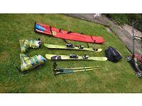 Salmon 1080 ski, boots, bag and poles