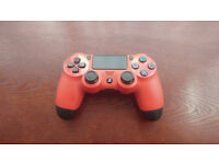 PS4 Sony Official Red Controller in mint condition like new