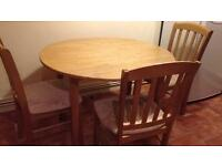 Free kitchen table with 3 chairs