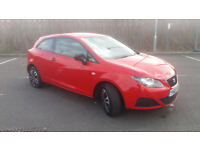 2010(60)SEAT IBIZA 1.2 S SPORTCOUPE 3DR BRIGHT RED,VERY LOW MILES,AIRCON,GREAT VALUE