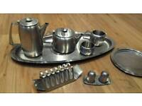 Stainless Steel Teapot and Breakfast Serving Set