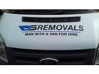 Removal company/ man with van service luton van with tailift