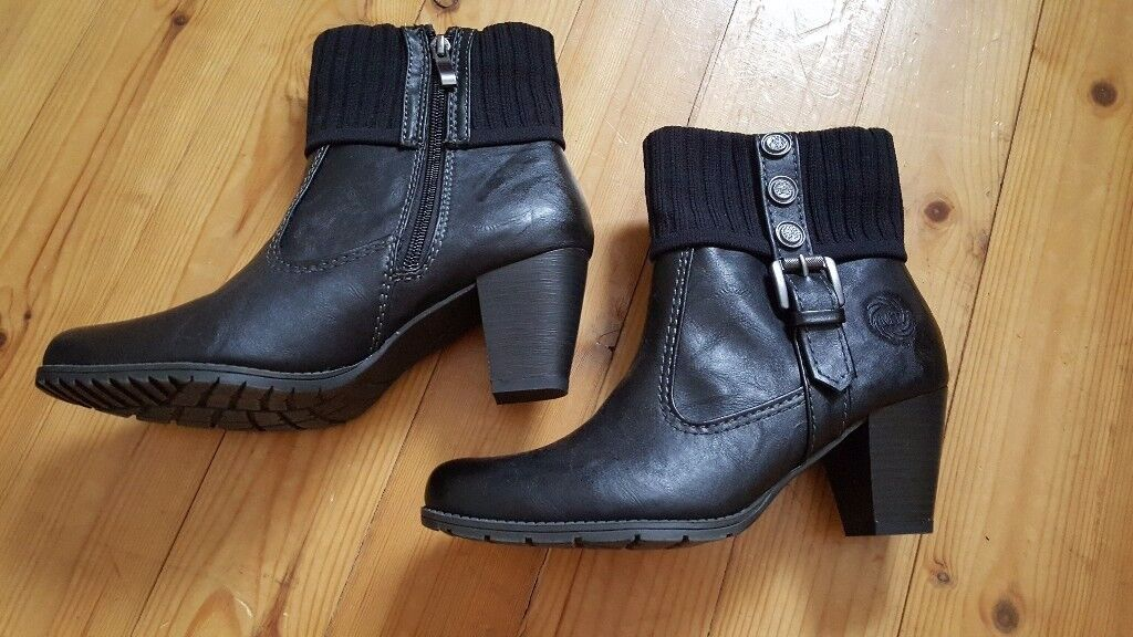 Marco Tozzi ladies black boots size 6 never worn