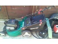 quad cast lawnmower