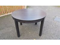 Ikea BJURSTA Round Extending Table 155/166cm FREE DELIVERY (03072)