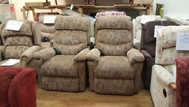 La Z Boy Newark Dual Motor Riser Recliner Chair, Two Available
