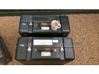EX MILITARY RADIO WATERPROOF CARRY BOXES/STORAGE X 2 , EXPEDITION ?