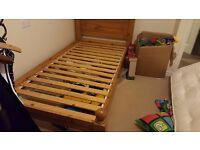single oak bed frame