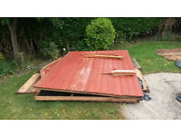 8' x 5' garden shed or firewood. FREE