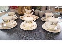 Vintage bone china teaset