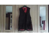 Browning Skeet Jacket / Clay Pigeon Shooting Vest Right Handed shot. Red and Black size 2XL