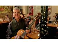 Spanish and Classical guitarist Eddie Rodger Tapa restaurant 19 Shore place leith