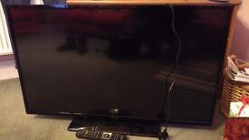 TV 42 inch Hitachi. Broken screen. For spares or repair