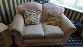 Pink two seater settee for sale