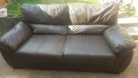 3 seater leather sofa only 2 years old