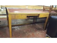 Vintage Desk with Leather Top
