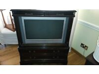 Sony digital TV and cabinet