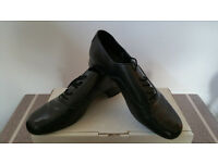 Men's black dance shoes as pictured size 8