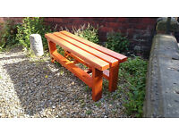 Handmade Solid Quality Wood Outdoor/Indoor Picnic Bench in 'Antique Pine' Finish
