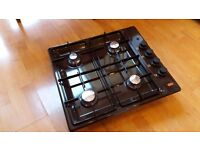 Quality EKCO 4 burner built in gas hob. Brown