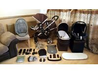 iCandy Peach Double Pushchair Pram Stroller Maxi Cosi Car Seat - Rain Covers & Lots More Bargain
