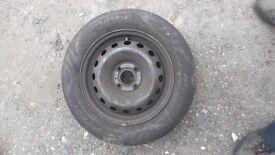 14 inch car wheel and tyre 175 65 14 good tread