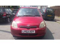 Toyota Yaris 1.3 petrol 2003