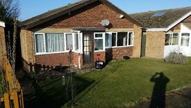 3 bed detached bungalow, near A12. Long let. £775 pcm. Garage, garden. Tel 07563554134