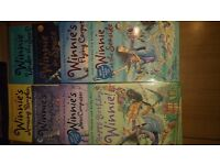 Winnie the witch books - 8 small paperbacks, 7 large paperbacks - 2 with cds, 1 hardback book