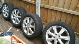 Honda wheels and tyres 195/55R16 4x100