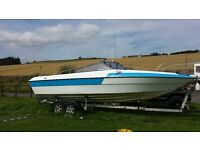 22 foot arrowbolt . twin axle trailer. 75 hp outboard all electric. quick sale