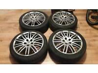 "Lexus is200 17"" alloy wheels good tyres 98-05 breaking spares 112.4 is 200 is300"