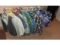 Bundle of 11 boys shirts
