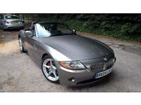 2004 BMW Z4 3.0I SE GREY 6 SPEED MANUAL PETROL ROADSTER CONVERTIBLE SPORTS CAR