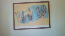 A lovely piece of large art ideal for feature wall by artis Auguste rodin