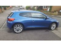 VW Scirocco 2.0 TDI in metallic blue. One owner from new, Full service history.