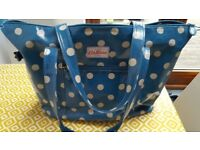 Cath Kidston Bag – shopper / tote style - oilcloth - Teal and White Button Spot Design