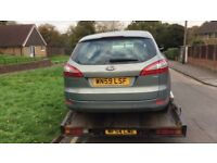 2009 Ford Mondeo Edge Tdci 125 5g Estate 1.8L Diesel Grey BREAKING FOR SPARES