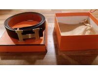 Hermes paris leather belt designer