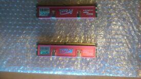A Data 2 X 1 GB 800 MHz Ram Memory Stix