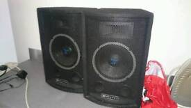 2x pa speakers for sale