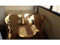 Conservatory furniture (sofa, chairs x2, table)